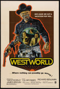 """Movie Posters:Science Fiction, Westworld (MGM, 1973). One Sheet (27"""" X 41""""). Science Fiction.Starring Richard Benjamin, Yul Brynner, James Brolin and Dick..."""