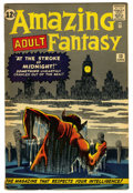 Silver Age (1956-1969):Mystery, Amazing Adult Fantasy #13 (Marvel, 1962) Condition: FN-. Containsan anti-communist story. Steve Ditko cover and art. Overst...