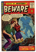 Golden Age (1938-1955):Horror, Beware #15 (Trojan/Prime, 1955) Condition: FN. Overstreet 2006 FN6.0 value = $84. From the John McLaughlin Collection....