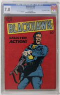 "Golden Age (1938-1955):War, Blackhawk #19 Davis Crippen (""D"" Copy) pedigree (Quality, 1948) CGCFN/VF 7.0 Off-white pages. Blackhawk really comes to lif..."