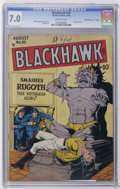 "Golden Age (1938-1955):War, Blackhawk #20 Davis Crippen (""D"" Copy) pedigree (Quality, 1948) CGCFN/VF 7.0 Off-white pages. Spectacular bondage cover by ..."