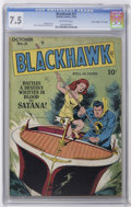 """Golden Age (1938-1955):Adventure, Blackhawk #21 Davis Crippen (""""D"""" Copy) pedigree (Quality, 1948) CGCVF- 7.5 Off-white pages. Only one other copy of issue #2..."""