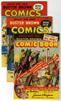 Golden Age (1938-1955):Miscellaneous, Buster Brown Comics Mile High pedigree Group (Brown Shoe Co., 1945-46). Includes #3 (FN+), 8 (VF/NM), 12 (FN/VF), and 30 (FN... (Total: 4 Comic Books)