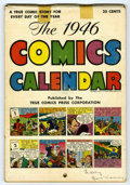 Golden Age (1938-1955):Non-Fiction, The 1946 Comics Calendar #nn (True Comics Press, 1945) Condition:VG. Has a comic strip story for every day of year, in colo...