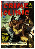 Golden Age (1938-1955):Crime, The Crime Clinic #3 Mile High pedigree (Ziff-Davis, 1951) Condition: VF+. Used in SOTI. Painted cover by Norman Saunders...