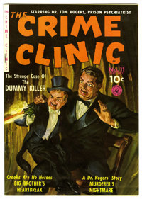 The Crime Clinic #11 (#2) Mile High pedigree (Ziff-Davis, 1951) Condition: NM-. Painted cover by Norman Saunders. Overst...