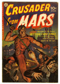 Golden Age (1938-1955):Science Fiction, Crusader from Mars #1 (Ziff-Davis, 1952) Condition: VG-. GeorgeRoussos art. Painted cover. Overstreet 2006 VG 4.0 value = $...