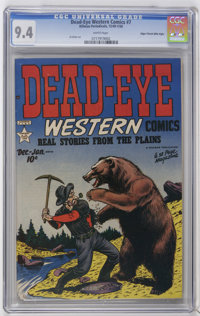Dead-Eye Western Comics V1#7 Mile High pedigree (Hillman Publications, 1950) CGC NM 9.4 White pages. Al Ulmer art. Only...
