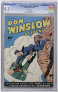 Golden Age (1938-1955):Superhero, Don Winslow of the Navy #26 Rockford pedigree (Fawcett, 1945) CGC VF+ 8.5 Off-white pages. Overstreet 2006 VF 8.0 value = $8...