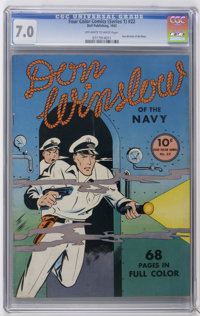 Four Color (Series One) #22 Don WInslow of the Navy (Dell, 1942) CGC FN/VF 7.0 Off-white to white pages. Overstreet 2006...