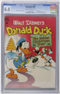 "Golden Age (1938-1955):Funny Animal, Four Color #203 Donald Duck (Dell, 1948) CGC FN+ 6.5 Cream tooff-white pages. Donald Duck in ""The Golden Christmas Tree."" C..."