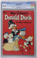 """Silver Age (1956-1969):Cartoon Character, Four Color #379 Donald Duck (Dell, 1952) CGC VF 8.0 Cream to off-white pages. Donald Duck in """"Southern Hospitality."""" Bob Moo..."""
