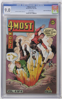 4Most V4#4 Mile High pedigree (Novelty Press, 1945) CGC VF/NM 9.0 White pages. Jim Wilcox and Walter Johnson art. Only C...