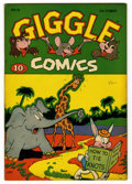 "Golden Age (1938-1955):Funny Animal, Giggle Comics #13 Davis Crippen (""D"" Copy) pedigree (Creston, 1944)Condition: VF/NM. Overstreet 2006 VF/NM 9.0 value = $65;..."