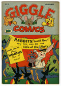 "Golden Age (1938-1955):Funny Animal, Giggle Comics #14 Davis Crippen (""D"" Copy) pedigree (Creston, 1944)Condition: VF+. Overstreet 2006 VF 8.0 value = $50; VF/N..."