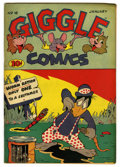 "Golden Age (1938-1955):Funny Animal, Giggle Comics #16 Davis Crippen (""D"" Copy) pedigree (Creston, 1945)Condition: FN/VF. Overstreet 2006 FN 6.0 value = $27; VF..."