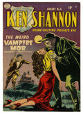 "Golden Age (1938-1955):Crime, Ken Shannon #6 (Quality, 1952) Condition: VF/NM. ""The Weird Vampire Mob."" Reed Crandall cover and art. Overstreet 2006 VF/NM..."