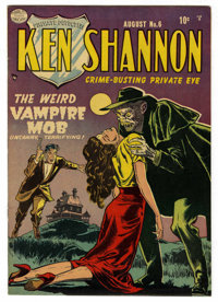 "Ken Shannon #6 (Quality, 1952) Condition: VF/NM. ""The Weird Vampire Mob."" Reed Crandall cover and art. Overstr..."
