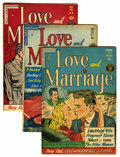 "Golden Age (1938-1955):Romance, Love and Marriage Group - Davis Crippen (""D"" Copy) pedigree(Superior, 1952-53). Issues include #5 (GD condition), #10 (VF+ ...(Total: 3 Comic Books)"