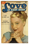 "Golden Age (1938-1955):Romance, Love at First Sight #1 Davis Crippen (""D"" Copy) pedigree (Ace,1949) Condition: VF-. Painted cover. Overstreet 2006 VF 8.0 v..."