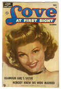 "Golden Age (1938-1955):Romance, Love at First Sight #2 Davis Crippen (""D"" Copy) pedigree (Ace,1949) Condition: VF. Painted cover. Overstreet 2006 VF 8.0 va..."