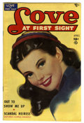 """Golden Age (1938-1955):Romance, Love at First Sight #4 Davis Crippen (""""D"""" Copy) pedigree (Ace,1950) Condition: VF. Painted cover. Overstreet 2006 VF 8.0 va..."""