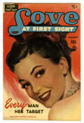 """Golden Age (1938-1955):Romance, Love at First Sight #7 Davis Crippen (""""D"""" Copy) pedigree (Ace,1951) Condition: VF/NM. Painted cover. Overstreet 2006 VF/NM ..."""
