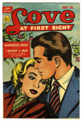 "Golden Age (1938-1955):Romance, Love at First Sight #15 Davis Crippen (""D"" Copy) pedigree (Ace,1952) Condition: FN/VF. Overstreet 2006 FN 6.0 value = $21; ..."