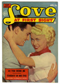 "Golden Age (1938-1955):Romance, Love at First Sight #21 Davis Crippen (""D"" Copy) pedigree (Ace,1953) Condition: VF+. Photo cover. Overstreet 2006 VF 8.0 va..."