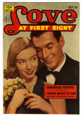 "Golden Age (1938-1955):Romance, Love at First Sight #22 Davis Crippen (""D"" Copy) pedigree (Ace,1953) Condition: VF-. Photo cover. Overstreet 2006 VF 8.0 va..."