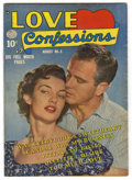 "Golden Age (1938-1955):Romance, Love Confessions #6 Davis Crippen (""D"" Copy) pedigree (Quality,1950) Condition: VF+. Photo cover. Overstreet 2006 VF 8.0 va..."