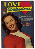 Golden Age (1938-1955):Romance, Love Confessions #13 Mile High pedigree (Quality, 1951) Condition:VG/FN. Photo cover. Overstreet 2006 VG 4.0 value = $16; F...