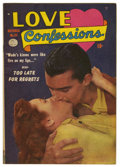 "Golden Age (1938-1955):Romance, Love Confessions #24 Davis Crippen (""D"" Copy) pedigree (Quality,1952) Condition: FN. Photo cover. Overstreet 2006 FN 6.0 va..."