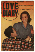 "Golden Age (1938-1955):Romance, Love Diary #3 Davis Crippen (""D"" Copy) pedigree (Quality, 1949)Condition: FN. Photo cover. Overstreet 2006 FN 6.0 value = $..."