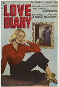 """Golden Age (1938-1955):Romance, Love Diary #4 Davis Crippen (""""D"""" Copy) pedigree (Quality, 1950)Condition: VF/NM. Photo cover. Overstreet 2006 VF/NM 9.0 val..."""