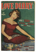 "Golden Age (1938-1955):Romance, Love Diary #12 Davis Crippen (""D"" Copy) pedigree (Quality, 1951)Condition: FN/VF. Photo cover. Overstreet 2006 FN 6.0 value..."
