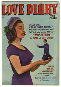 "Love Diary #16 Davis Crippen (""D"" Copy) pedigree (Quality, 1951) Condition: FN/VF. Matt Baker story. Photo cov..."