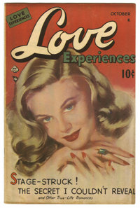 """Love Experiences #1 Davis Crippen (""""D"""" Copy) pedigree (Ace, 1949) Condition: VF-. Painted cover. Overstreet 20..."""