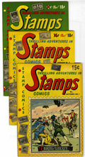 Golden Age (1938-1955):Miscellaneous, Stamps Comics Group (Youthful Magazines, 1951-52). Includes #1, 3, 4 (2 copies), and 7. Art by Henry Kiefer and Roy Krenkel.... (Total: 5 Comic Books)