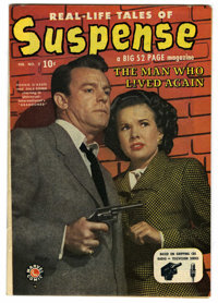 Suspense #2 (Atlas, 1950) Condition: VF-. Dennis O'Keefe and Gale Storm photo cover. Overstreet 2006 VF 8.0 value = $203...