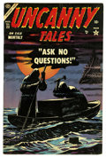Golden Age (1938-1955):Horror, Uncanny Tales #23 (Atlas, 1954) Condition: VF-. Overstreet 2006 VF8.0 value = $144. From the John McLaughlin Collection....