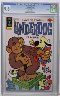 Underdog #10 File Copy (Gold Key, 1976) CGC NM/MT 9.8 White pages. Overstreet 2006 NM- 9.2 value = $45. CGC census 9/06:...