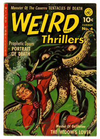 Weird Thrillers #4 (Ziff-Davis, 1952) Condition: FN-. Art by Joe Kubert and George Tuska. Overstreet 2006 FN 6.0 value =...