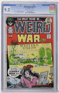 Bronze Age (1970-1979):War, Weird War Tales #2 (DC, 1971) CGC NM- 9.2 Off-white to white pages. Joe Kubert, Reed Crandall, and Frank Thorne art. Overstr...