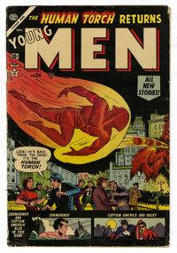 """Young Men #24 (Atlas, 1953) Condition: GD/VG. First comic book of Marvel's """"superhero revival"""" period that bro..."""