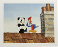 "Animation Art:Limited Edition Cel, ""Woody Woodpecker Scolds Andy Panda"" Hand Painted Cel #5/200 Original Art (Walter Lantz Productions). Andy Panda tries the t... (Total: 2 Items)"