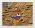 "Animation Art:Limited Edition Cel, ""Rooftop Woody Woodpecker"" Hand Painted Cel #195/200 Original Art(Walter Lantz Productions, 1991). Woody bursts from a peck...(Total: 2 Items)"