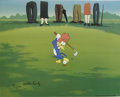 "Animation Art:Limited Edition Cel, ""Golfing Fool"" Limited Edition Hand Painted Cel Artist's Proof#1/10 Original Art, Signed by Walter Lantz (Walter Lantz Produc...(Total: 2 Items)"