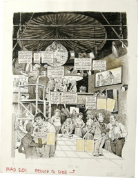 Harry North - Mad Illustration Original Art, Group of 14 (EC, 1977-82). This group lot features fourteen laugh-filled Ha...