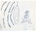Animation Art:Production Drawing, Pink Panther Animation Production Drawing Original Art (undated).The Pink Panther bangs a gong, in this vibrant original pe...